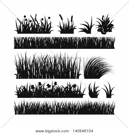 Black grass with earth crosscut. Grass earth, nature, background and nature grass with earth.