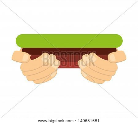 grass terrain hands human vector isolated graphic