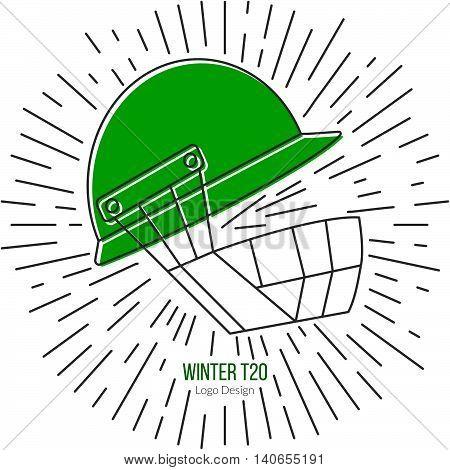 Cricket Sport Game Logotype Design Concept