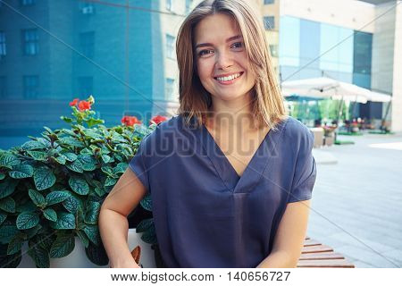 Everyone's attention will be drawn by this charming smile of young stylish girl