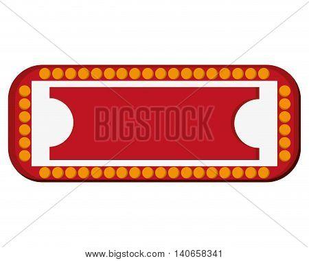 flat design circus sign icon vector illustration