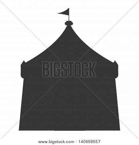 flat design circus tent icon vector illustration