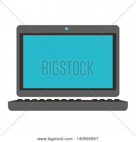 flat design laptop frontview icon vector illustration