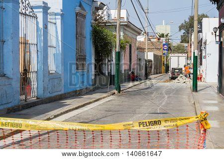 Road Work In Barranco Lima, Peru