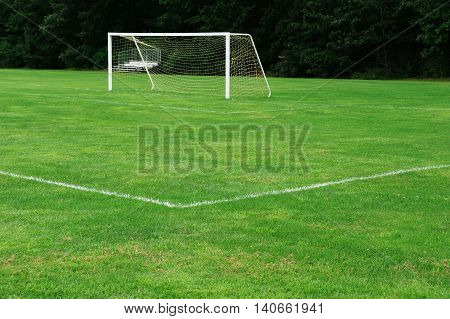 football field and goal post, sport background