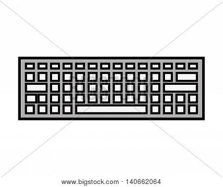 keyboard keypad computer icon vector isolated design