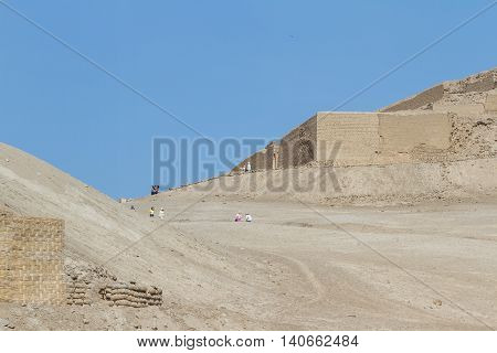 Archeological Complex Of Pachacamac In Lima