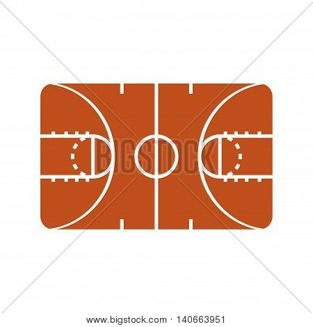 Basketball concept represented by league icon. Isolated and flat illustration