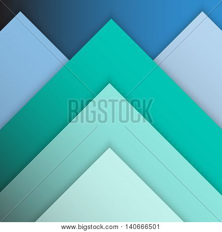 Green pastel material design with shadow, stock vector