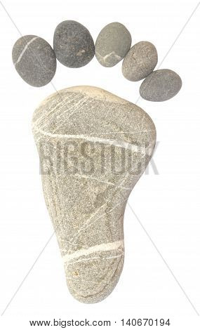 Pebble Foot Isolated