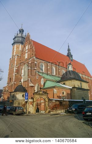 Krakow, Poland -January 5, 2011: Corpus Christi Church (Kosciol Bozego Ciala)