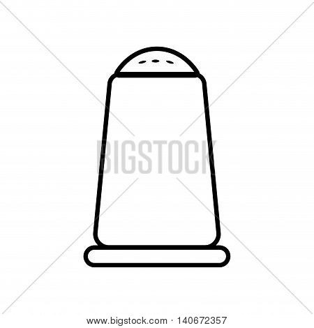 Food ingredient concept represented by salt icon. Isolated and flat illustration