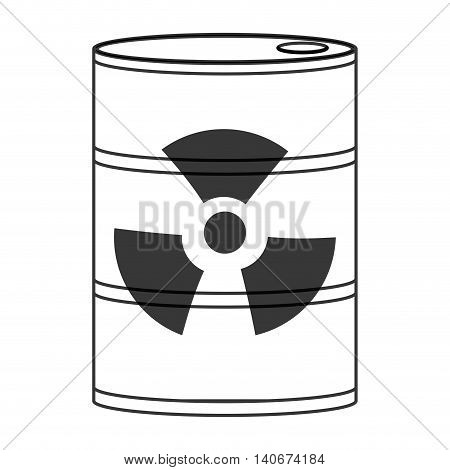 flat design toxic waste icon vector illustration