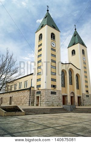 Church of St. Jacob in Medjugorje (Bosnia and Herzegovina) - a place of pilgrimage for Catholics