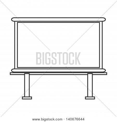 flat design marker board icon vector illustration