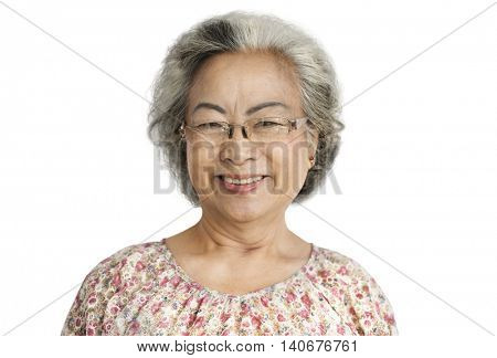 Grandma Lady Positive Motivation Smile Concept