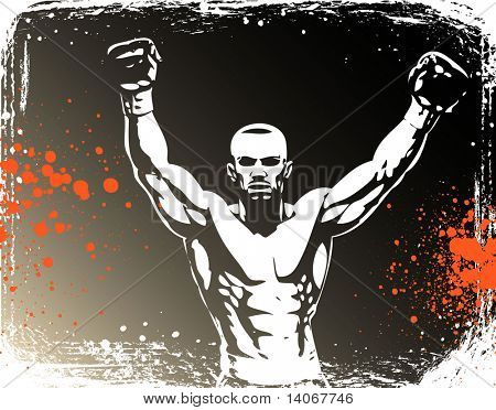 boxing poster - rasterized vector