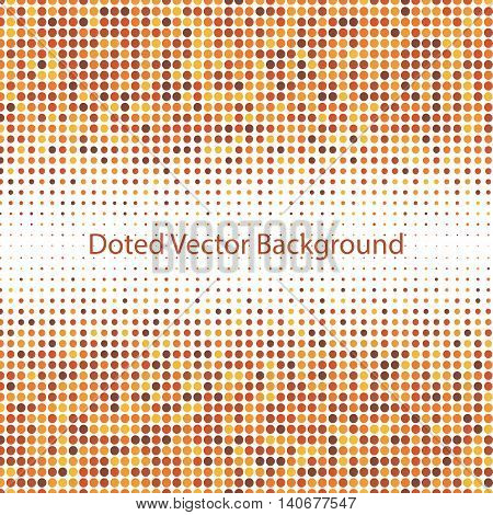 Abstract doted brown background. Halftone. Vector illustration for use in your design.