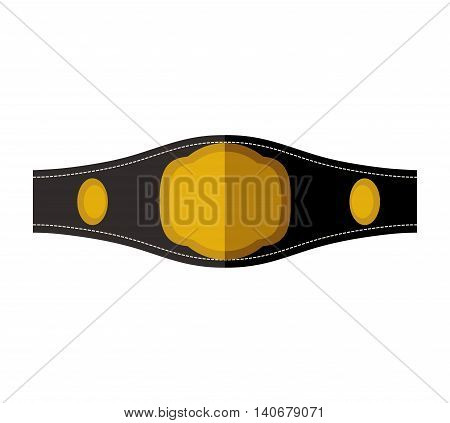 Boxing concept represented by belt icon. Isolated and flat illustration
