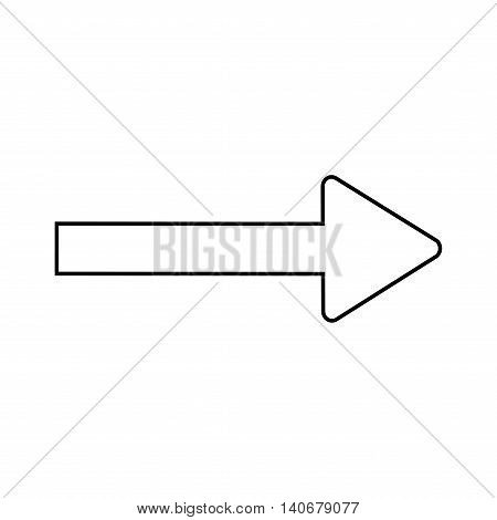 Traffic sign. Direction symbol isolated on white background. Monochrome icon. White arrow. Pointer concept. Information badge. Modern art scoreboard. Course template. Stock Vector illustration