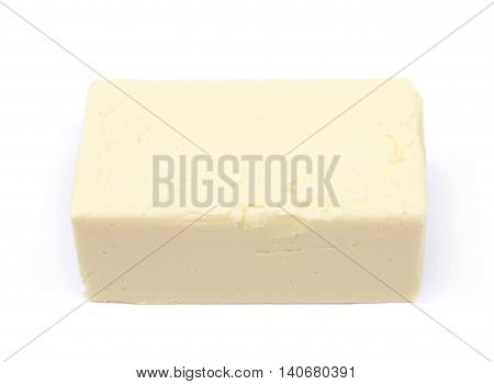 Piece of cooking butter isolated over the white background