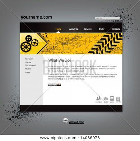 business construction web site design template - vector illustration