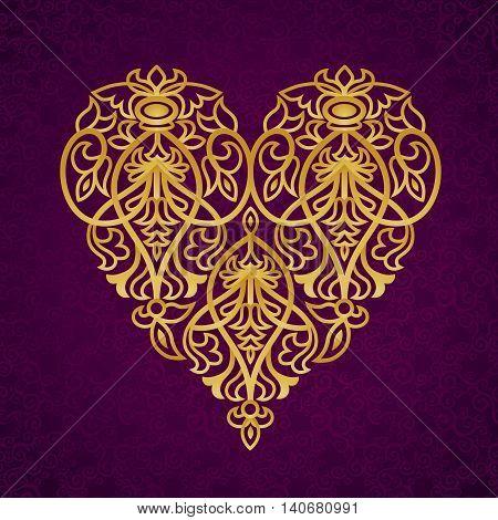 Ornate Gold Heart.