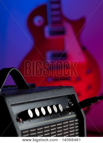 Amplifier  And Electric Guitar