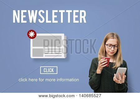 Newsletter Hot News Announcement Daily Concept