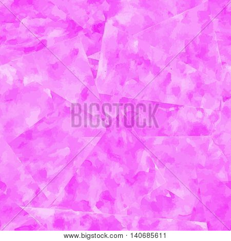 Abstract seamless pattern. Magenta watercolor background. Vector illustration.
