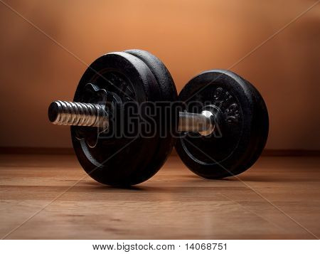 Dumbell On The Floor