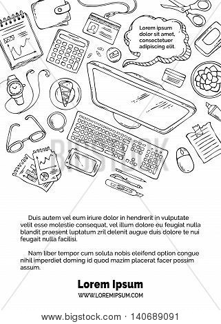 Vector Doodles Workplace Template.