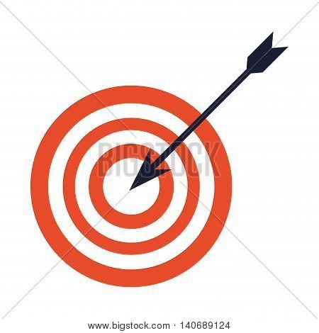 flat design bullseye with arrow icon vector illustration