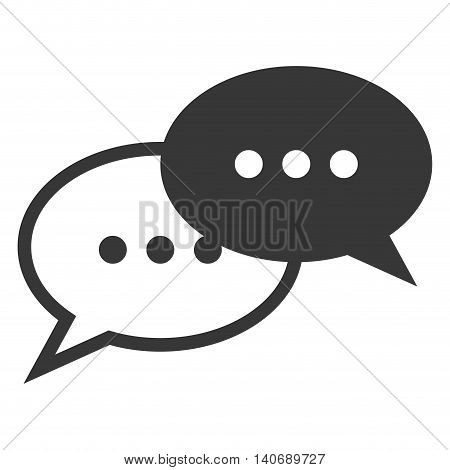 flat design conversation bubbles icon vector illustration
