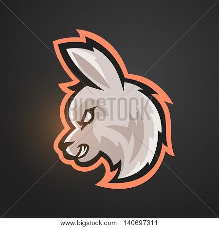 Vector illustration of alpaca. Sport game mascot.