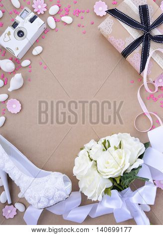 Wedding Background With Decorated Borders