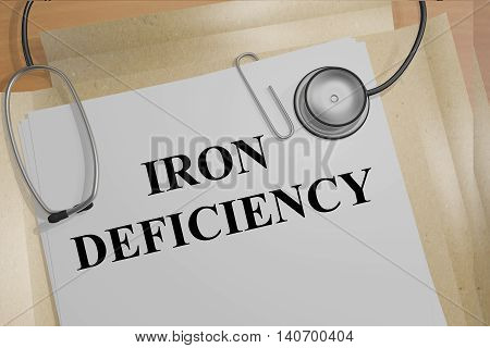 Iron Deficiency - Medical Concept