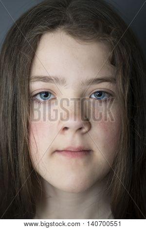 Girl Face Closeup
