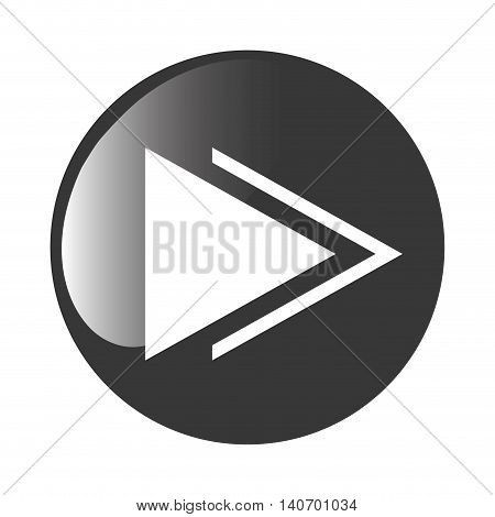 flat design play sign icon vector illustration