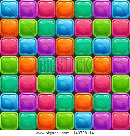Funny abstract colorful seamless pattern, vector texture