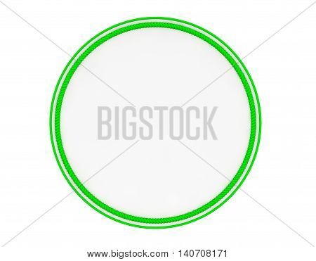 Blank Green Uniform Patch on a white background. 3d Rendering