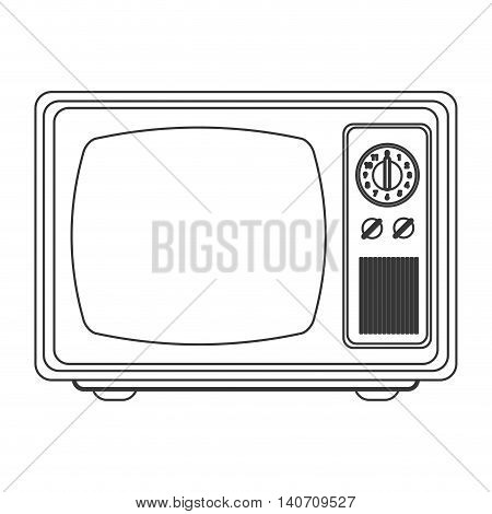 flat design retro classic tv icon vector illustration