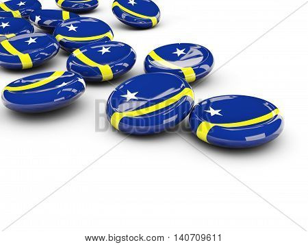 Flag Of Curacao, Round Buttons