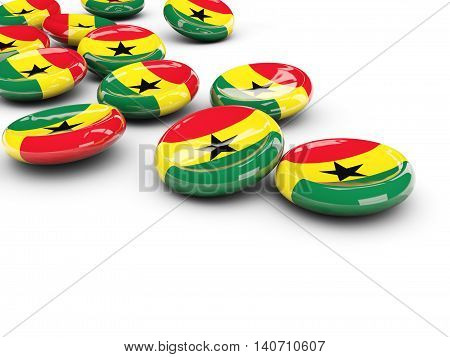 Flag Of Ghana, Round Buttons