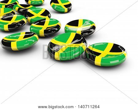 Flag Of Jamaica, Round Buttons