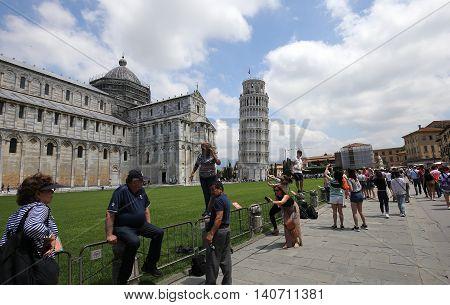 Around Tower Of Pisa, Tuscany, Italy