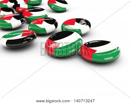 Flag Of Palestinian Territory, Round Buttons