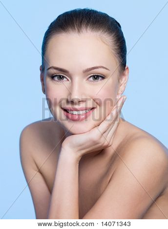Happy Young Woman With Clean Face