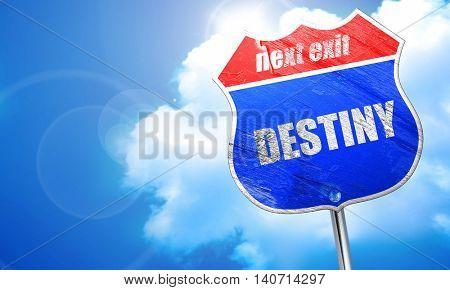 destiny, 3D rendering, blue street sign