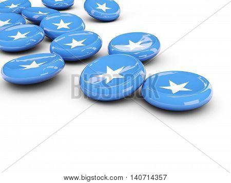 Flag Of Somalia, Round Buttons